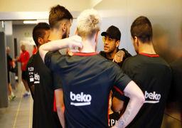 حضور سرزده نیمار در تمرین بارسلونا! +عکس