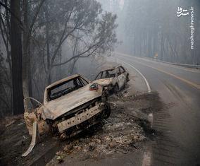 تصاویر ایالت کالیفرنیا یک هفته بعد از آتش سوزی