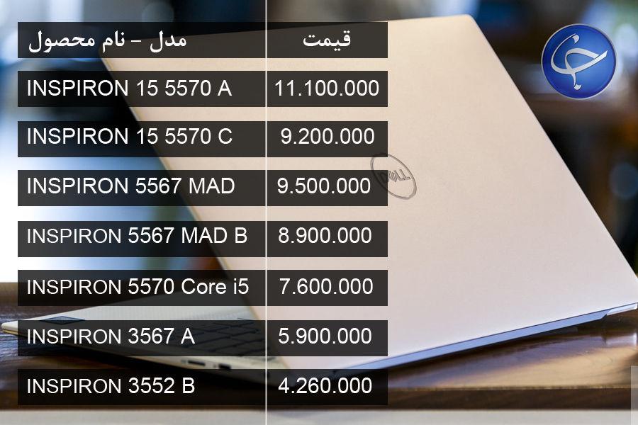 آخرین قیمت انواع لپ تاپ در بازار (تاریخ ۲۸ بهمن) +جدول