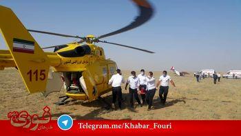 سقوط هواپیمای تک موتوره در اطراف فرودگاه آزادی نظرآباد