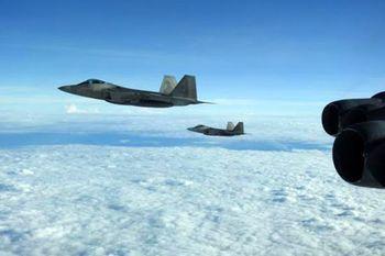 تقابل هوایی آمریکا و روسیه حوالی آلاسکا +فیلم و تصاویر