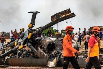 سقوط مرگبار بالگرد در اندونزی