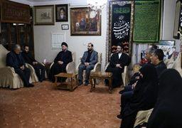 رهبر جریان حکمت ملی عراق در منزل سپهبد شهید سلیمانی