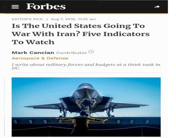 5 نشانه برای حمله نظامی آمریکا به ایران