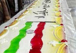 بزرگترین کیک تولد انقلاب در مشهد