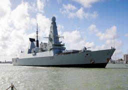 بازگشت ناوشکن نیروی دریایی انگلیس از تنگه هرمز به پایگاه خود