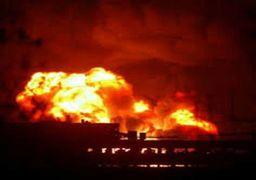 آتش سوزی و وقوع انفجار در یک انبار مهمات وزارت دفاع اوکراین + فیلم