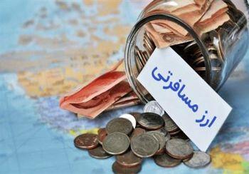 قیمت امروز ارز مسافرتی در شعب منتخب بانکی