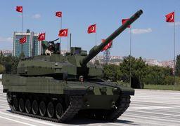 صفکشی تانکهای ترکیه در مرز سوریه (عکس)