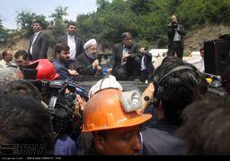 حضور رئیس جمهوری در محل حادثه معدن یورت