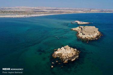 تصاویری از جزایر زیبای «ناز» در سواحل شرقی قشم
