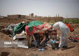 گزارش تصویری گندزدایی و ضدعفونی پاتوقهای معتادان در اهواز
