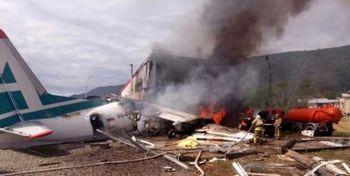 نجات تمام مسافران یک هواپیما پس از سقوط