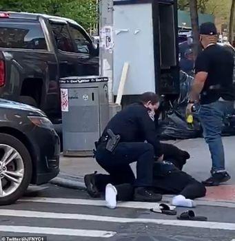 ویدئو  برخورد خشن پلیس با افراد ناقض قوانین فاصلهگذاری در نیویورک +تصاویر