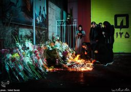 همدردی مردم با آتش نشانان حادثه پلاسکو