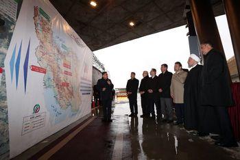 منطقه یک آزادراه تهران - شمال با حضور روحانی مورد بهرهبرداری قرار گرفت