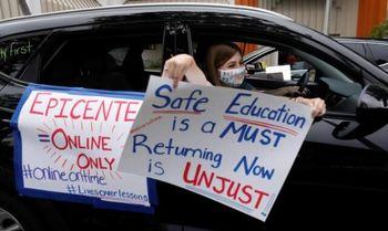 اعتراض معلمان آمریکا به بازگشایی مدارس