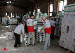 بارگیری محموله دارویی و درمانی حجاج ایرانی