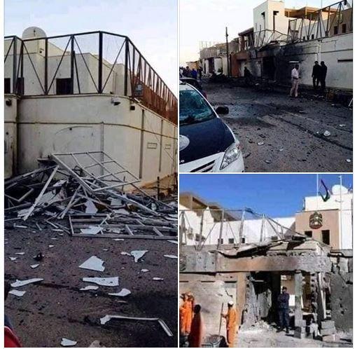 سفارت امارات در طرابلس در آتش خشم معترضان لیبیایی سوخت+ عکس