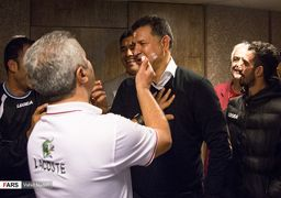 جشن تولد علی دایی در حاشیه تمرین تیم نفت