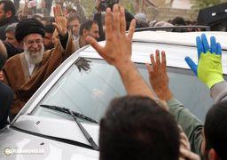 لحظه احساسی مواجهه یکی از زلزله زدگان با رهبر انقلاب + عکس