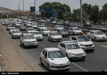ترافیک در جاده فیروزکوه و محور تهران-پردیس