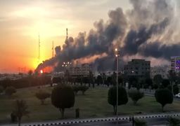 فیلم | تصاویر جدید از حمله پهپادی نیروهای یمنی به تاسیسات آرامکو