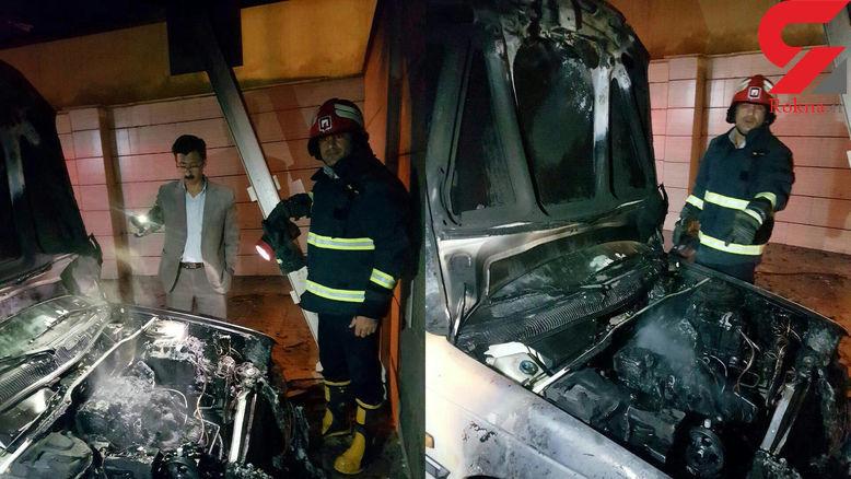 آتش گرفتن پژو در منزل مسکونی در لرستان