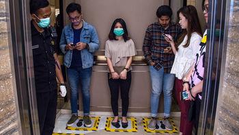 میزان ماندگاری ویروس کرونا در آسانسور