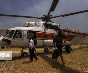 تصاویری از تلاش برای مهار آتشسوزی در جنگل خائیز