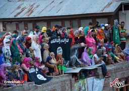 تشییع جنازه فرمانده داعش در کشمیر