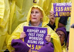 تظاهرات علیه دستمزد پایین در آمریکا