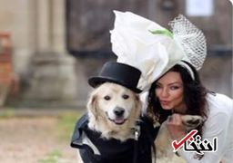 گزارش تصویری از ازدواج زن انگلیسی با سگش
