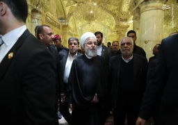 تصاویر بازدید روحانی از صحن حضرت زهرا(س)