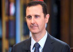 ابراز همدردی بشار اسد با ملت و دولت ایران