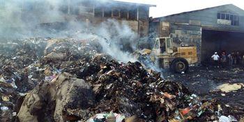 خسارت 2 میلیارد تومانی کارخانه کاغذسازی مهاباد در اثر آتشسوزی