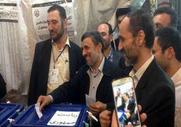 احمدی نژاد و بقایی رای دادند / بقایی به احمدی نژاد رای داد!