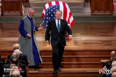 مراسم تشییع پیکر جورج بوش پدر