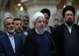حسن روحانی: امام هیچوقت نگفت همه با من، گفت همه باهم +فیلم