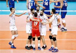 شکست ایتالیا مقابل ملی پوشان والیبال ایران