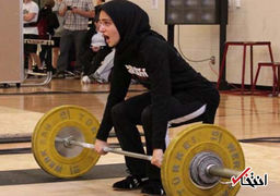 تصویری از دختران وزنه بردار ایران