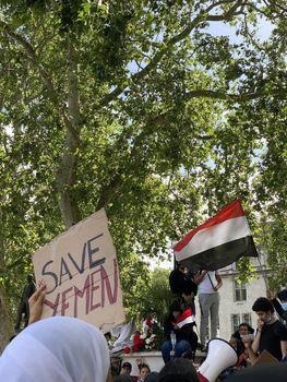 تصاویر و فیلمهای تظاهرات ضد سعودی در لندن