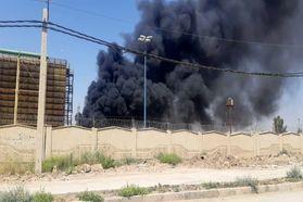 اولین تصاویر از آتش سوزی در نیروگاه شهید مدحج زرگان اهواز