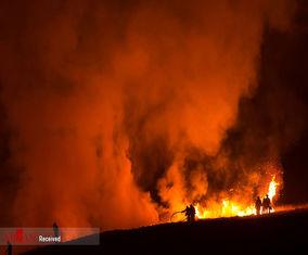 تصاویر آتش سوزی وسیع در انگلیس