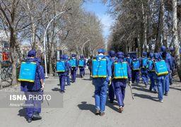 تصاویر عملیات ضدعفونی سطح شهر مشهد