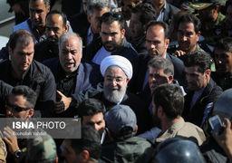 روحانی در کرمانشاه از ماشین پیاده نشد؟