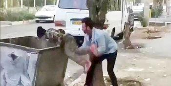 تراژدی پرتاب کودک کار به سطل زباله