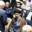 حضور پسران رهبری در مراسم ختم پدر وحید حقانیان + عکس