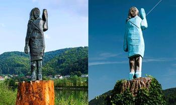 مجسمه نسوز ملانیا ترامپ+ عکس