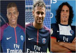 هزینه نیم میلیارد یورویی برای خرید 3 بازیکن فوتبال !